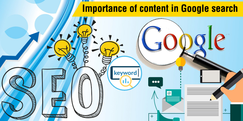 Importance of content in Google algorithm